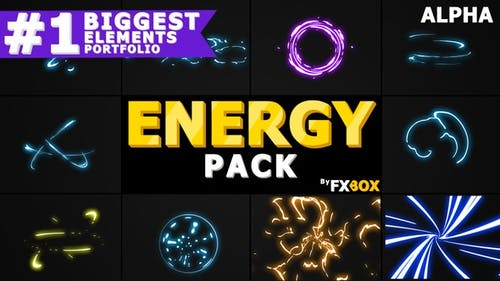 Charges énergétiques tirées à la main | Graphiques animés Pack