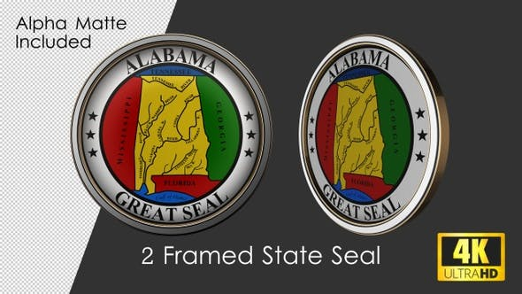 Thumbnail for Framed Seal Of Alabama State