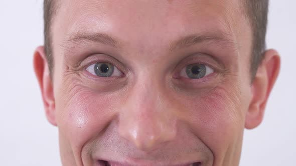Cover Image for Face of Young Happy Joyful Emotional Man Smiling