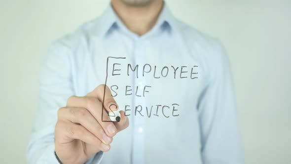 Cover Image for Employee Self Service, ESS, Writing On Screen