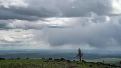 Time lapse view from Caribou-Targhee National Forest over Southeast Idaho