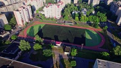 Small City Stadium for Soccer