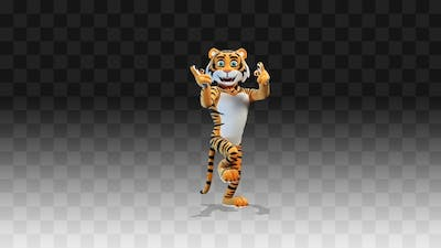 Tiger dancing funny and long dance