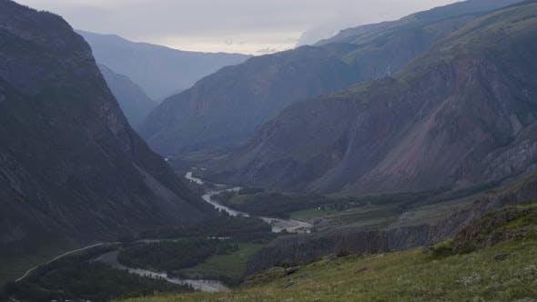 The beautiful scenic nature of Chulyshman valley, Altai
