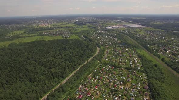 Thumbnail for Aerial View of Summer House Community, Russia