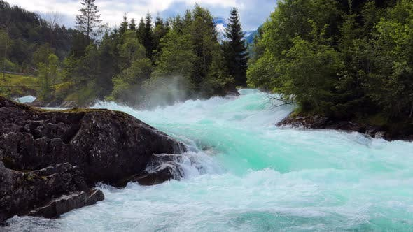 Thumbnail for Mountain River Water Norway Beautiful Nature