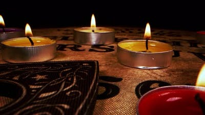 Spiritual Ouija Board And The Candles 6