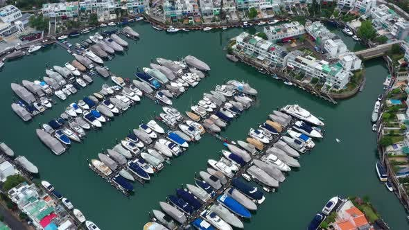 Thumbnail for Top view of yacht club
