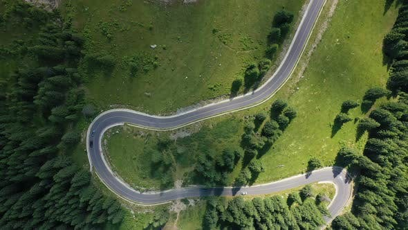 Thumbnail for Aerial View Of Famous Romanian Mountain Road Transalpina 11