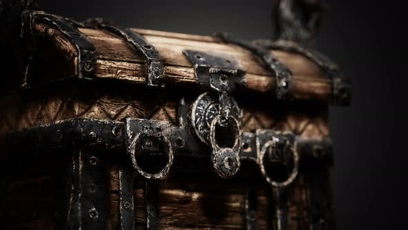 Thumbnail for Closed Wooden Treasure Chest with Metal Clasp