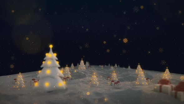 Christmas Event Snowflakes Falling HD