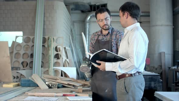Thumbnail for The Carpenter and His Boss Discuss the Work.