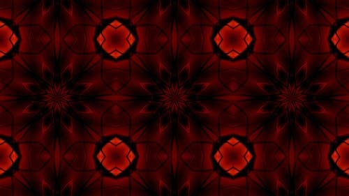 Stained Glass Red Kaleidoscope 4K 01