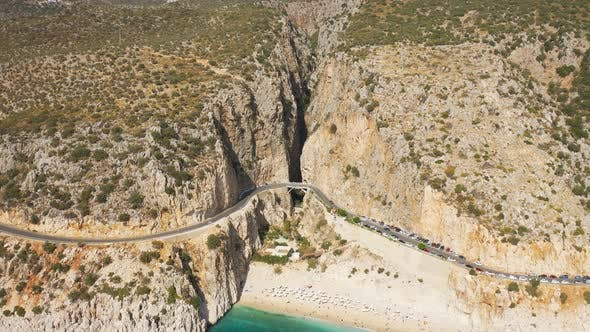 Thumbnail for Kaputas Beach Surrounded By Steep Cliffs Is One of the Rare Natural Beauties in Turkey
