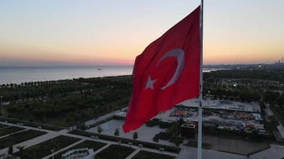 Turkey Symbol Flag