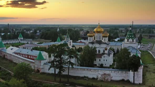 Cover Image for Ipatievsky Monastery in Kostroma at Sunset Russia