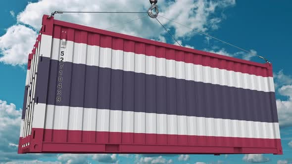 Thumbnail for Ladecontainer mit Flagge von Thailand
