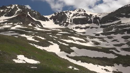 High Altitude Snowy Alpine Meadow Climate in Spring