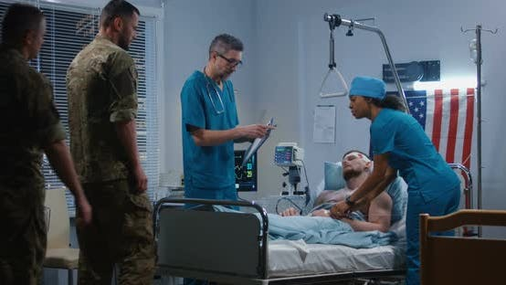 Thumbnail for Soldiers Visiting Their Fellow in Hospital