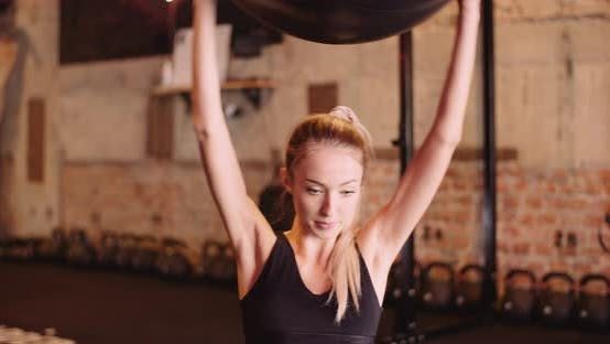 Thumbnail for Portrait of Woman Doing Sport at Gym Fitness Studio