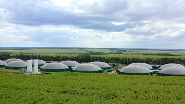 Thumbnail for Production of biogas. Modern agricultural complex for biogas