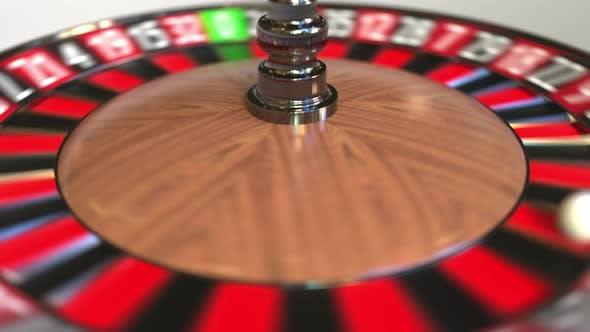 Thumbnail for Casino Roulette Wheel Ball Hits 33 Thirty-three Black