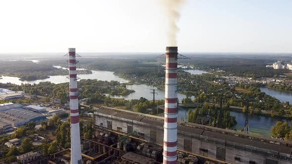 Cover Image for Environmental pollution by industrial plants throwing out harmful smoke from the chimney