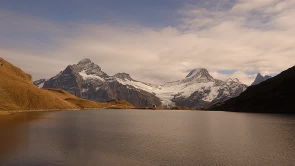 Cover Image for Picturesque View on Bachalpsee Lake in Swiss Alps Mountains
