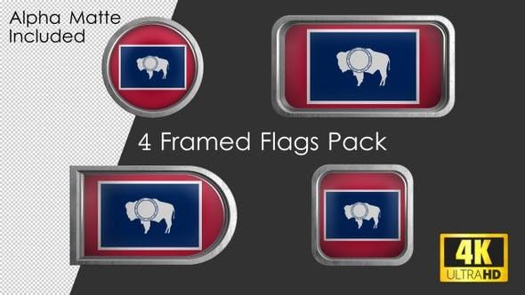 Thumbnail for Wyoming State Flag Framed