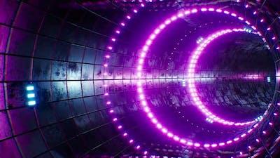 Cyberpunk Vintage Tiled Neon VJ Tunnel Loop 4K