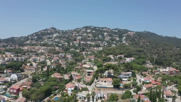 Cover Image for Drone Flight Over Small Resort Town Lloret De Mar