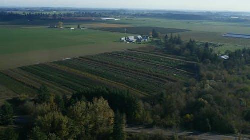 Aerial video of Oregon farmlands: 4K Ultra HD