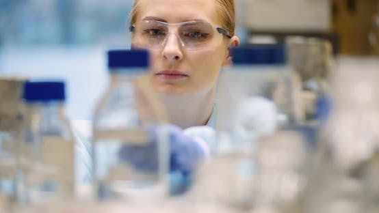 Thumbnail for Scientist Working in Laboratory Microbiology