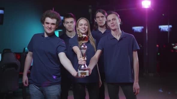 Cheerful Cybersport Team