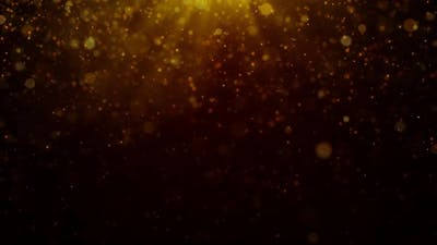 Glitter Gold Particles Background