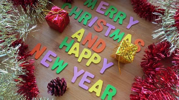 Cover Image for Merry Christmas And Happy New Year Decoration