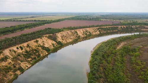 Bend of the Big River Aerial View