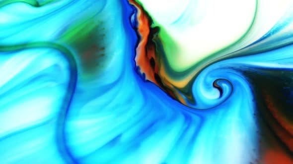 Thumbnail for Swirling And Explosion Colour Of Mixed Paint