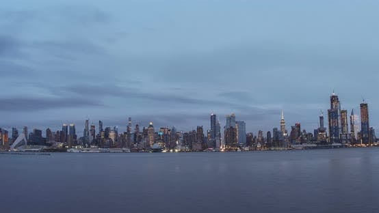 Thumbnail for New York City Skyline Day to Night 11