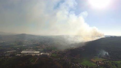 Big Fire Near Houses