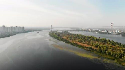 Over the Dnipro River in Kiev