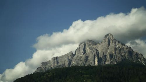 Timelapse Of Clouds On The Dolomites In The Alps