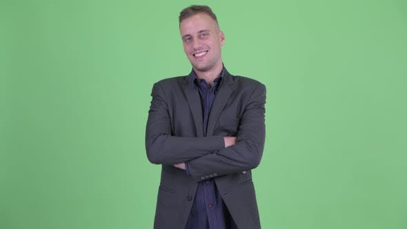 Thumbnail for Happy Handsome Businessman in Suit Smiling with Arms Crossed