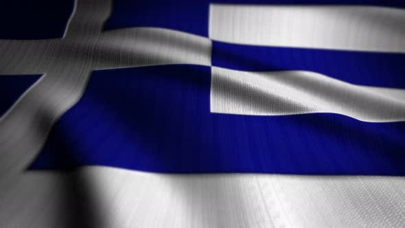 Thumbnail for Greece Flag Seamless Loop
