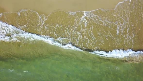 Thumbnail for Explosive Ocean Waves on a Golden Tropical Beach. Aerial Survey