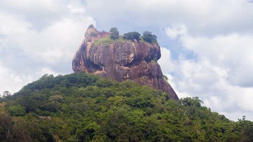 Sigiriya Lion Rock Mountains Landscape, Sri Lanka Timelapse