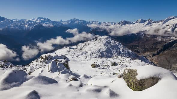 Thumbnail for Timelapse of Swiss Alps Mountains in Switzerland. Aletsch Arena, Switzerland