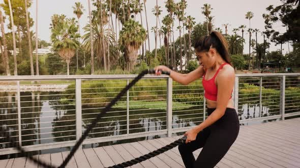 Thumbnail for Woman working out in the park