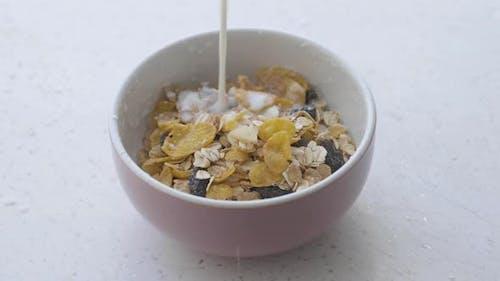 Cornflakes A bowl of cornflakes Portion of Rotating Cornflakes