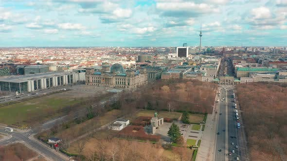 Thumbnail for Berlin Brandenburg Gate and Reichstag Panorama. Aerial View